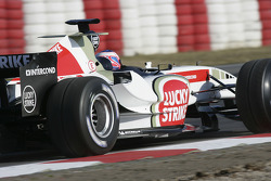 Jenson Button tests the new BAR Honda 007