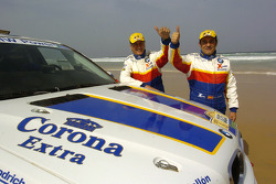 Jose Luis Monterde and Rafael Tornabell celebrate