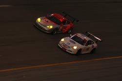 #16 TRG Porsche GT3 Cup: Brad Coleman, Colin Braun, Adrian Carrio, Ross Bentley, #75 Flying Lizard Motorsports Porsche GT3 Cup: Johannes van Overbeek, Lonnie Pechnik, Seth Neiman, Jon Fogarty, Patrick Long