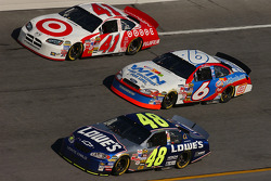 Casey Mears, Mark Martin and Jimmie Johnson