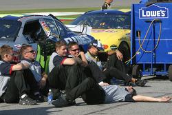 Lowe's Chevy crew members relax