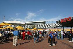 Fans enjoy race morning in the FanZone
