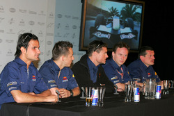 Red Bull Racing press conference: Vitantonio Liuzzi, Christian Klien, David Coulthard, Christian Horner and Guenther Steiner