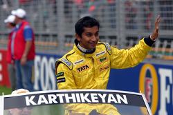 Drivers parade: Narain Karthikeyan