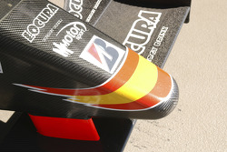 Nose cone of the Campos Racing GP2 car