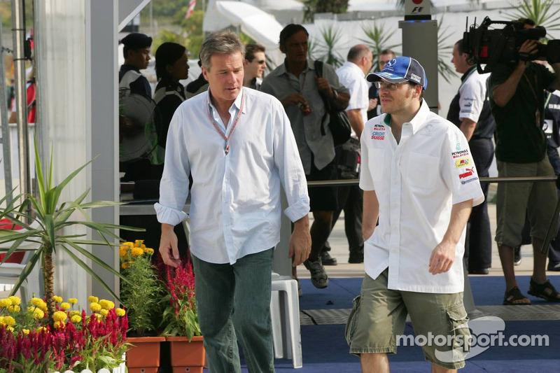 Jacques Villeneuve con Craig Pollock manager