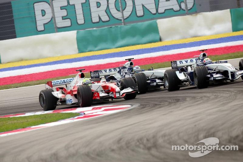 Mark Webber, Ralf Schumacher y Jarno Trulli