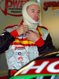 Greg Murphy prepares for practice