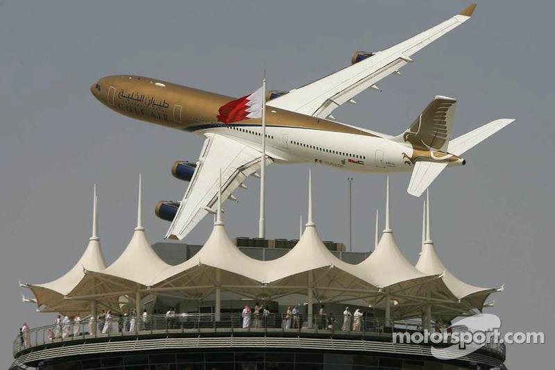 Paso de un avión de Gulf Air