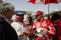 Michael Schumacher with Highness Shaikh Salman Bin Hamad Al Khalifa, Crown Prince and Commander-in-Chief of the Bahrain defence force
