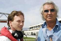 Christian Horner and Flavio Briatore