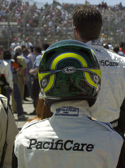 Bruno Junqueira prepares for the race
