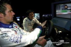 Sébastien Loeb and Stéphane Ortelli try the PlayStation racing sim