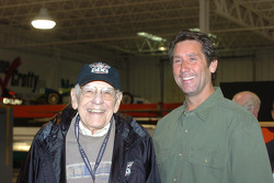 IMS Public Address announcer Tom Carnegie, left, and Vision Racing owner Tony George