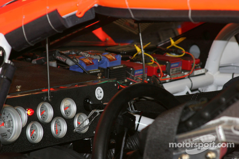 Dashboard area of a nascar cup car at texas for What motor does nascar use