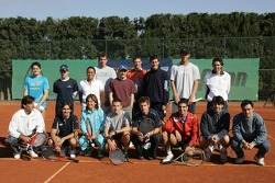 F1 Tennis Charity for the Northampton Intensive Care Unit at the Sanchez-Casal Open Tennis Academy: group picture
