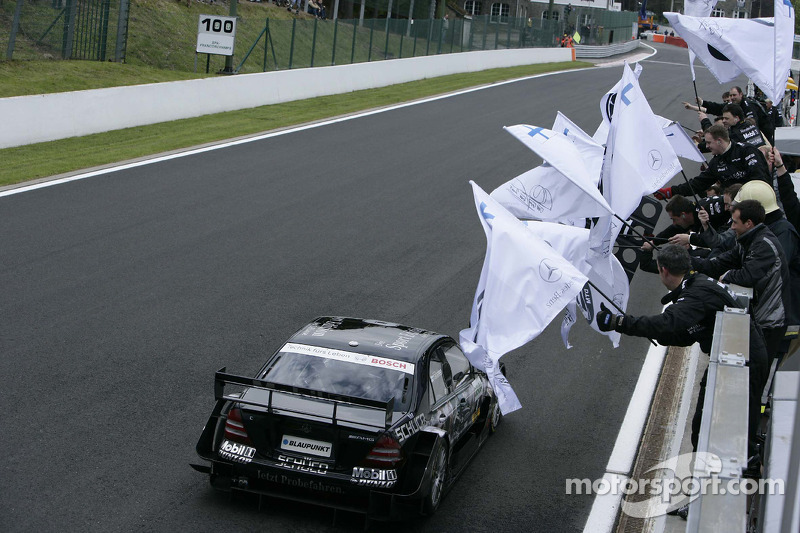 El ganador de la carrera, Mika Hakkinen