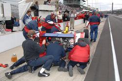 A.J. Foyt Enterprises crew members at work