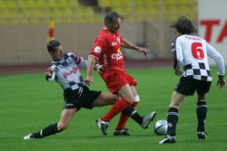 Charity Soccer at the Stade Louis 2, with Prince Albert II of Monaco: Michael Schumacher and Jarno Trulli