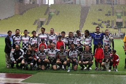 Charity Soccer at the Stade Louis 2, with Prince Albert II of Monaco: group picture