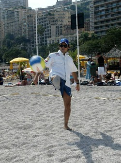 RTL beach volley match: Felipe Massa