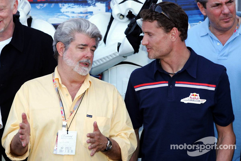 George Lucas und David Coulthard