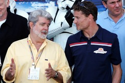 George Lucas and David Coulthard