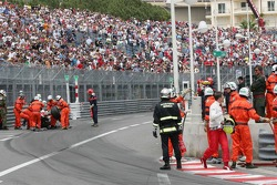 Ralf Schumacher after his crash