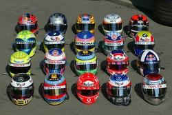 Helmets of F1 drivers photoshoot