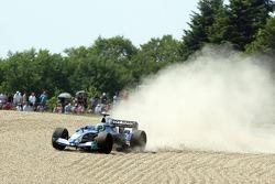 Off-track excursion for Felipe Massa