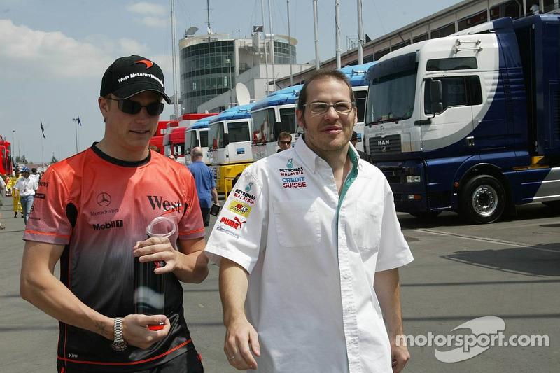 Kimi Raikkonen y Jacques Villeneuve