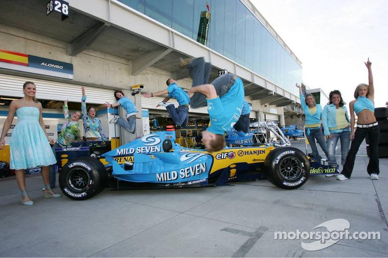 Sesión de fotos de Renault F1