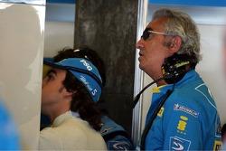 Fernando Alonso and Flavio Briatore