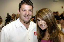 Tony Stewart with singer Jo Jo