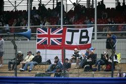 Fans banner for Jenson Button
