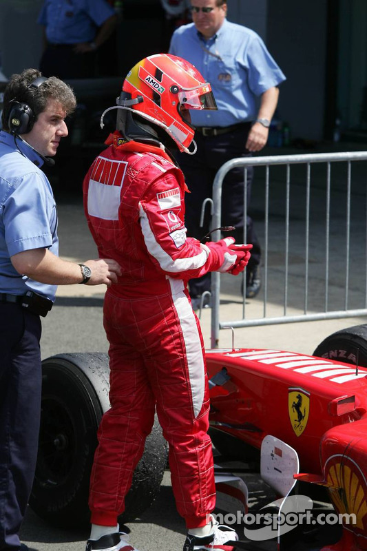 Michael Schumacher en Parc Fermé