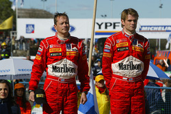 Podium: Marcus Gronholm and Timo Rautiainen