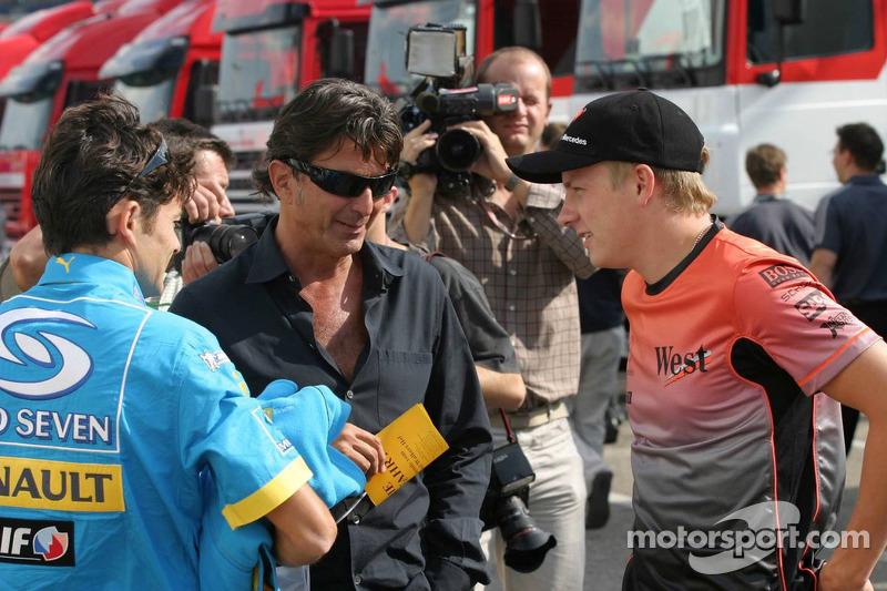 Giancarlo Fisichella y Kimi Raikkonen