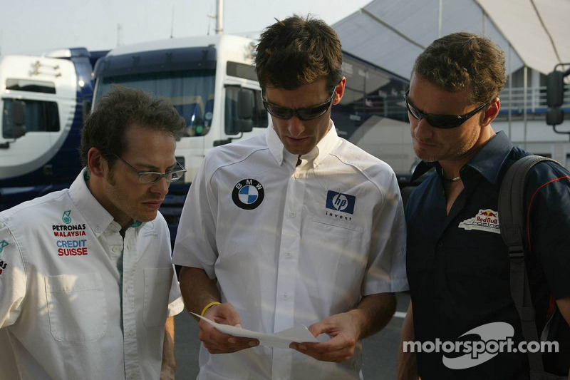 Jacques Villeneuve, Mark Webber and David Coulthard