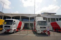 Des camions Toyota
