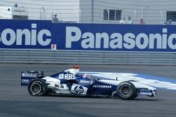 Tire failure for Mark Webber