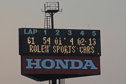 Score board after 61 laps