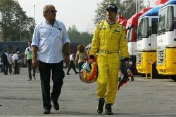 Tiago Monteiro with his father