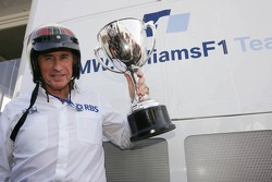 Sir Jackie Stewart celebrates his first ever GP win at Monza 40 years ago