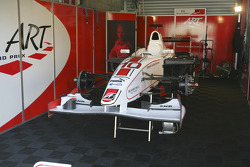 ART Grand Prix garage area