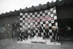 Go-kart event in Sao Paulo: champagne for everyone