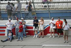 Fans enjoy the track