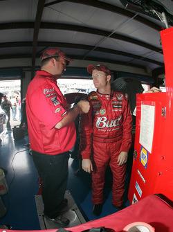 Dale Earnhardt Jr. with Tony Eury Jr.