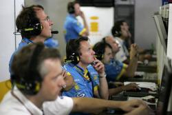 Renault F1 engineers at work