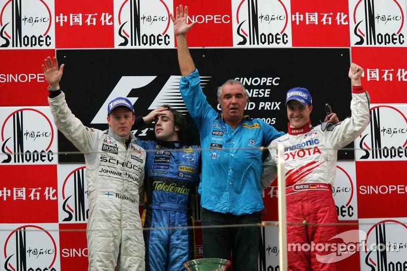 2005 : 1. Fernando Alonso, 2.Kimi Räikkönen, 3. Ralf Schumacher